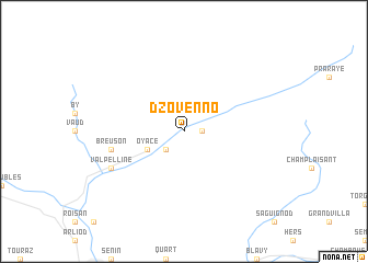 map of Dzovenno