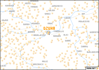 map of Džuha