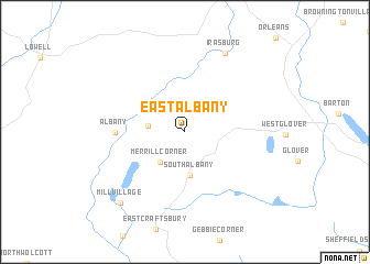 map of East Albany