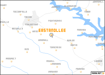 map of Eastanollee