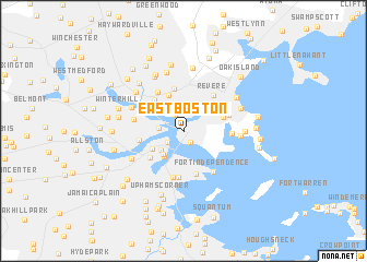 East Boston United States USA Map Nonanet - Boston in usa map