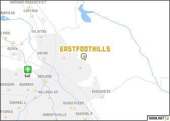 map of East Foothills