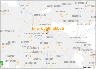 map of East Los Angeles