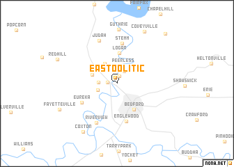 map of East Oolitic