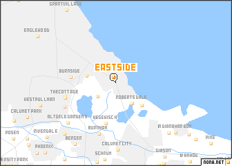East Side Of Us Map East Side (United States   USA) map   nona.net