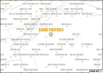 map of Ebbenbroek