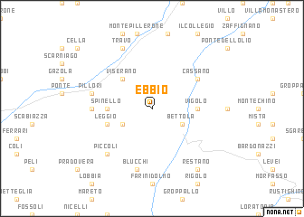 map of Ebbio