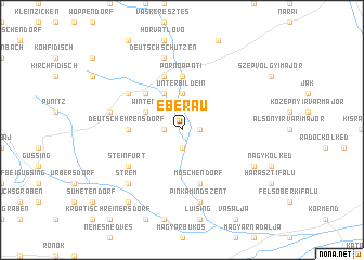 map of Eberau