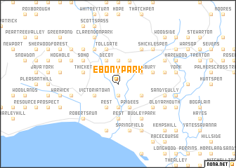 map of Ebony Park