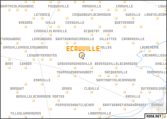 map of Écauville
