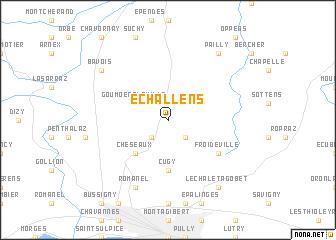 map of Echallens