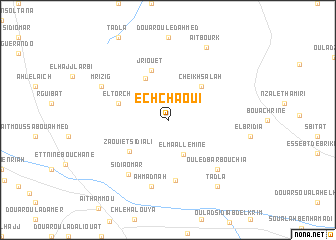 map of Ech Chaoui