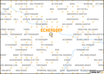 map of Echendorf