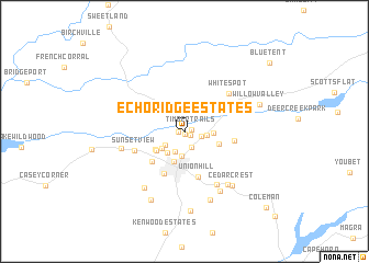 map of Echo Ridge Estates