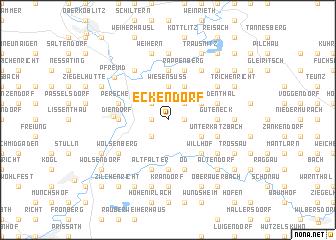 map of Eckendorf