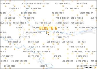 map of Ecksteig