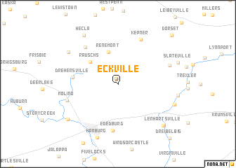 map of Eckville