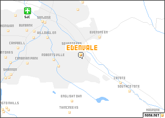 map of Edenvale