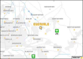 Edenvale (South Africa) map   nona.net