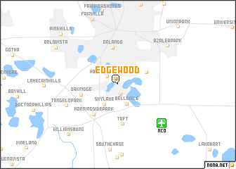 map of Edgewood