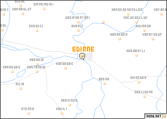 Edirne Turkey map nonanet