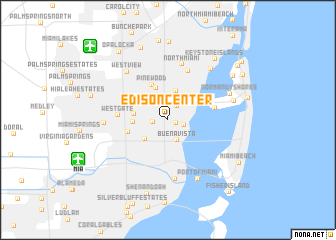 map of Edison Center