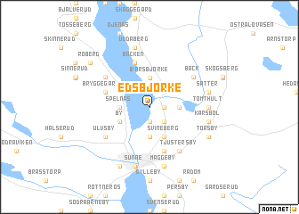 map of Edsbjörke
