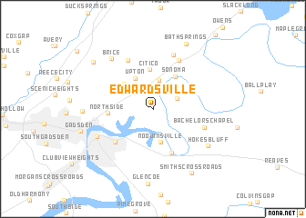 map of Edwardsville