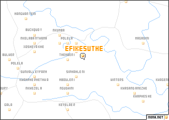 map of eFikesuthe