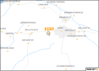 map of Egan