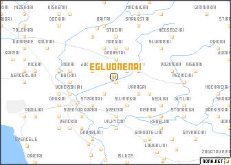 map of Egluonėnai