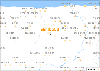 map of Eğrioğlu