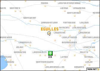 map of Éguilles