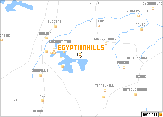 map of Egyptian Hills