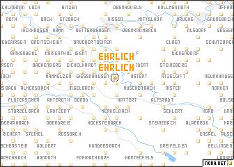 map of Ehrlich