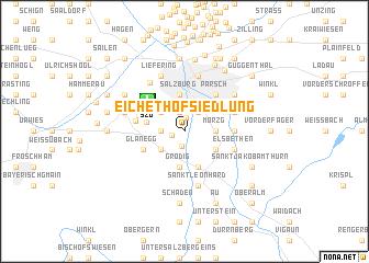 map of Eichethofsiedlung