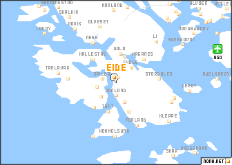map of Eide