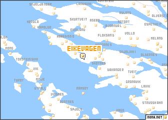 map of Eikevågen