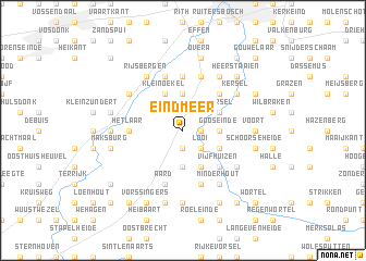 map of Eindmeer