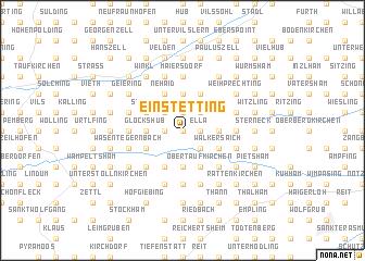 map of Einstetting