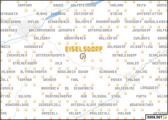 map of Eiselsdorf