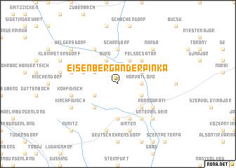 map of Eisenberg an der Pinka