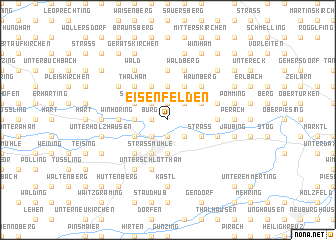 map of Eisenfelden