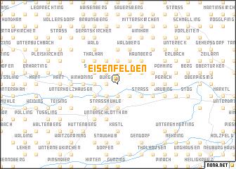 map of Eisenfelden