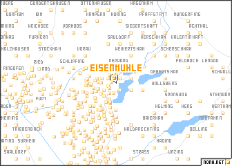 map of Eisenmühle