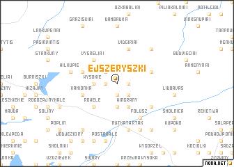 map of Ejszeryszki