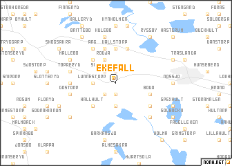 map of Ekefall
