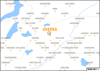 map of Ekered
