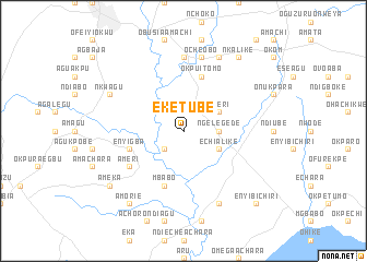 map of Eketube