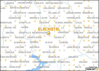map of El Achiotal